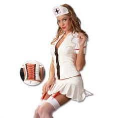 Dámský lakový kostým - zdravotní sestra (L)
