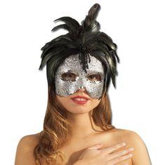 Maska s peřím