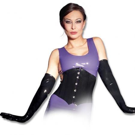 Dámske latexové rukavice - čierne (S)