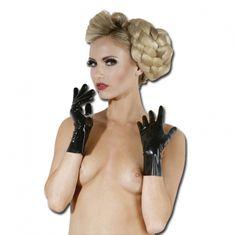 Krátké latexové rukavice (L)