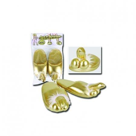 Papuče penis - Goldene Penispuschen