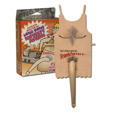 Zástera s nafukovacím penisom - Long dong novelty apron