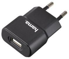 HAMA Sieťová USB nabíjačka, 5V/1A