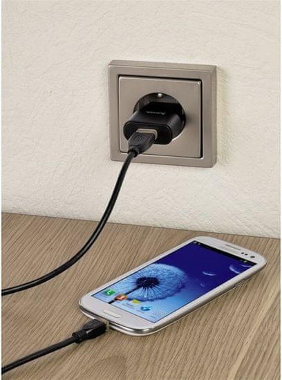 Hama Síťová USB nabíječka, 5V/1A - rozbaleno
