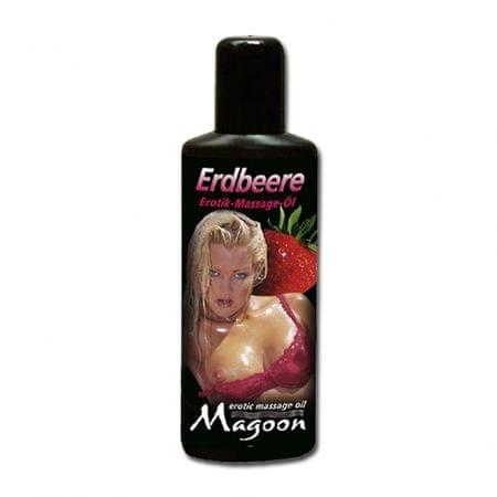 Masážní olej - Magoon erotic oil erdbeere