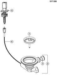 BLANCO Korek automatyczny z pokrętłem Quadris (517550) - WYPRZEDAŻ