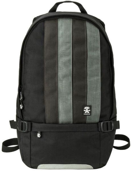 Crumpler Dinky Di Stripy Backpack M - dull black / dk. mouse grey
