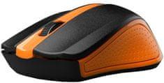 C-Tech WLM-01N, oranžová, bezdrátová, USB nano receiver