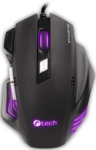 C-Tech AKANTHA Ultimate, herní, 7 barev podsvícení, laser 3200DPI, programovatelná, USB (GM-11)