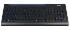 A4Tech KD-800L Billentyűzet, USB, Fekete, Cseh kiosztás outlet