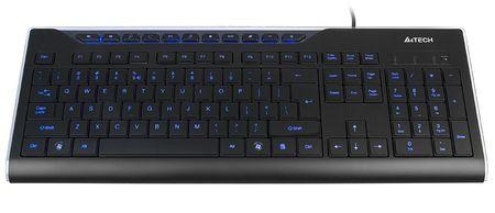 A4Tech KD-800L Billentyűzet, USB, Fekete, Magyar kiosztás