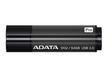 A-Data Prenosni USB disk S102 Pro Advanced 64GB, siv