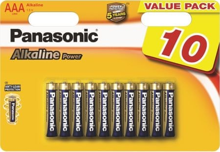 PANASONIC Power AAA elem, 10 db (LR03APB/10BW)