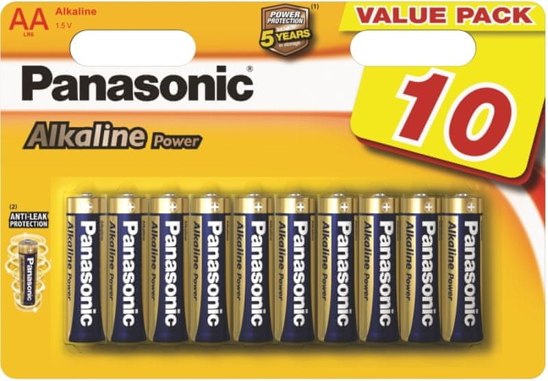 Panasonic AA 10ks Alkaline Power (LR6APB/10BW)