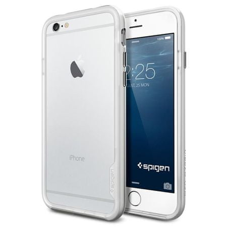 Spigen etui Neo Hybrid EX, iPhone 6 Plus, srebrny
