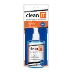 Clean IT čistící roztok na obrazovky s velkou utěrkou, 200ml