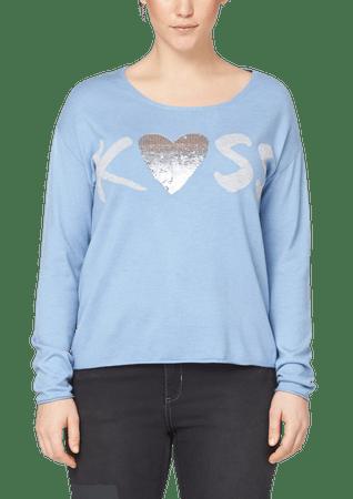 s.Oliver dámský svetr pro plnoštíhlé 48 modrá
