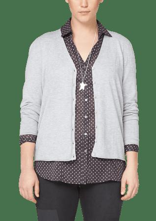 s.Oliver dámský svetr pro plnoštíhlé 52 šedá