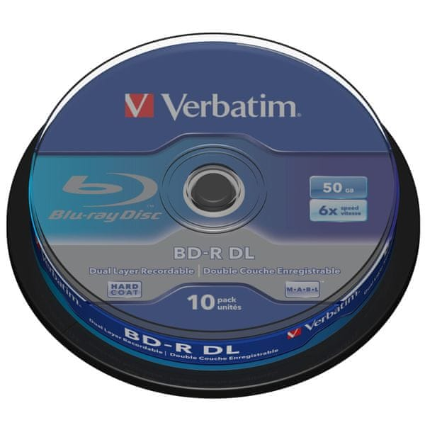 Verbatim BD-R DL 50GB 6x spindle 10-pack
