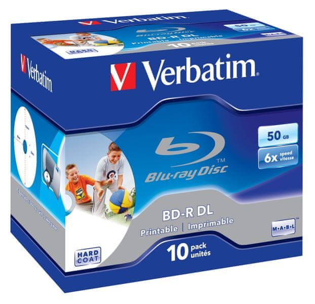 Verbatim BD-R DL 50GB 6x Wide Printable BOX 10-pack