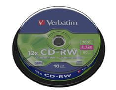 Verbatim CD-RW 80 8-12x spindl 10pck/BAL