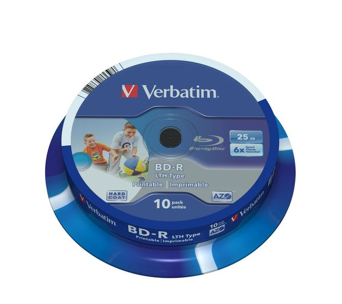 Verbatim BD-R SL 25GB 6x Wide Printable Spindle 10-pack