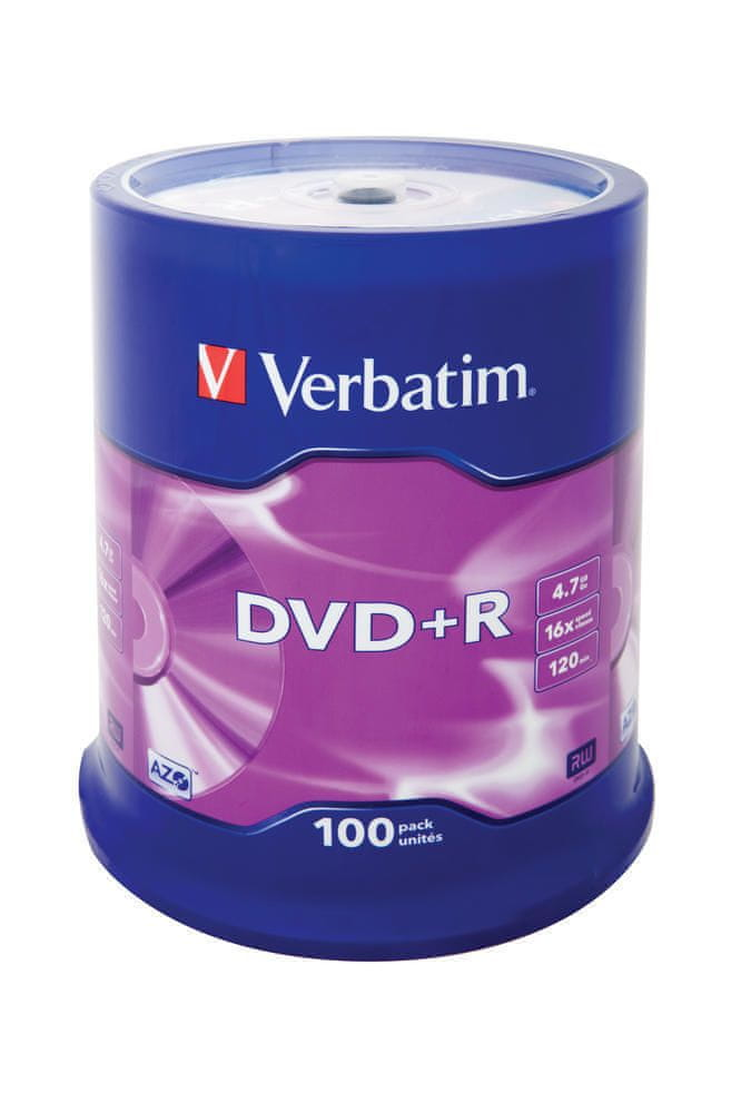 Verbatim DVD+R 4,7GB 16x spindle 100pck/BAL