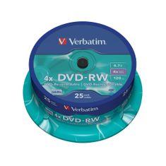 Verbatim DVD-RW 4.7GB 4x Rewritable Spindle 25-pack