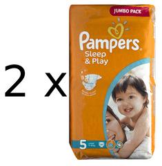 Pampers Sleep&Play 5 Jumbo Junior - 2 x 58 ks
