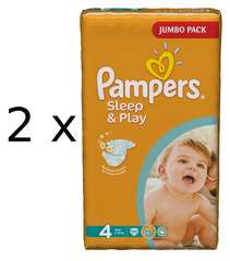 Pampers Pampers pieluchy Sleep&Play 4 Jumbo Maxi - 68 szt.