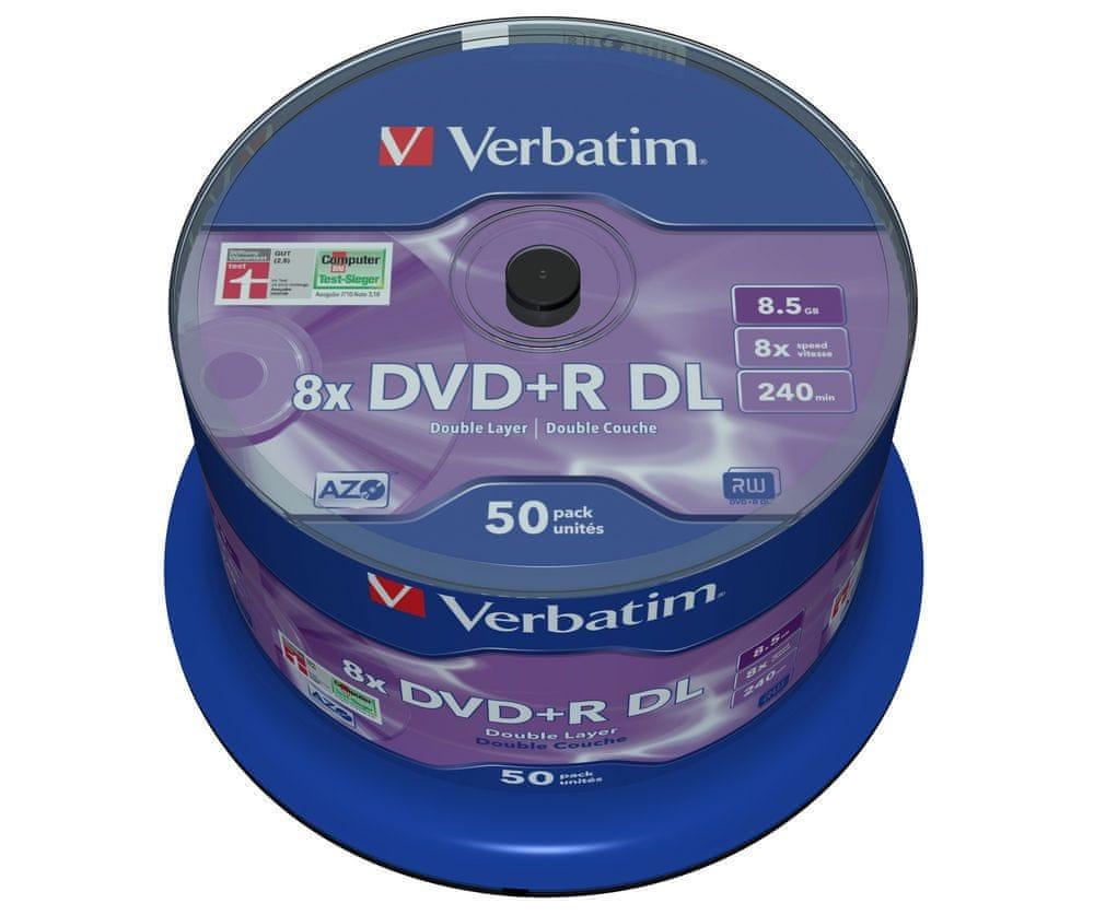 Verbatim DVD+R DL 8.5GB 8x Spindle 50-pack