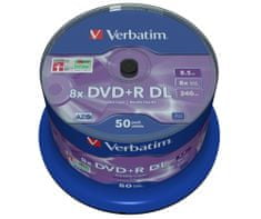 Verbatim DVD+R DL 8.5GB 8x Spindle 50-pack