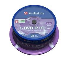 Verbatim DVD+R DL 8.5GB 8x Spindle 25-pack
