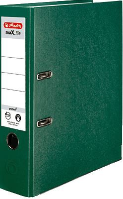 Herlitz registrator maX.file protect A4, 80 mm, zelen