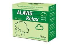 Alavis Relax Nyugtató tabletta kutyáknak/macskáknak, 75 mg, 40 db