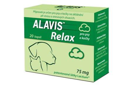 Alavis Relax 75mg pro psy a kočky 40cps