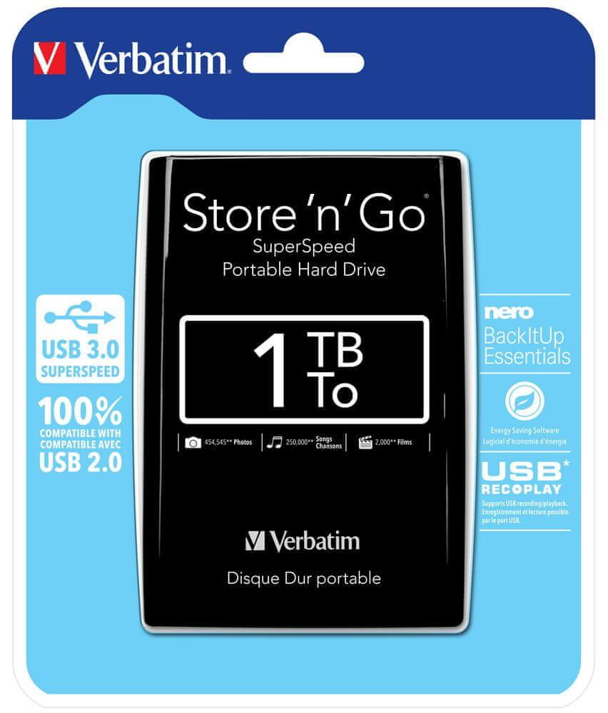 Verbatim Store 'n' Go 1TB, černá (53023)