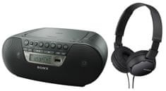 SONY ZS-PS30CP Hordozható CD-s rádió + MDR-ZX110 Fejhallgató