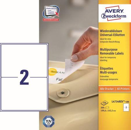 Avery Zweckform etikete L4734REV-100,199,6x143,5 mm