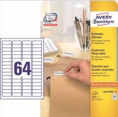 Avery Zweckform etikete L6021REV-25, 45,7x16,9 mm, bijele