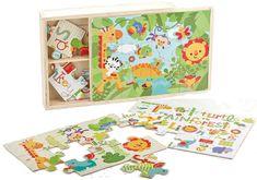 Fisher Price Drewniane puzzle 3w1 FP-3000-1 FP