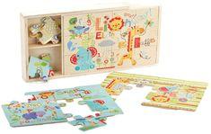 Fisher Price puzzle 3w1 drewniane