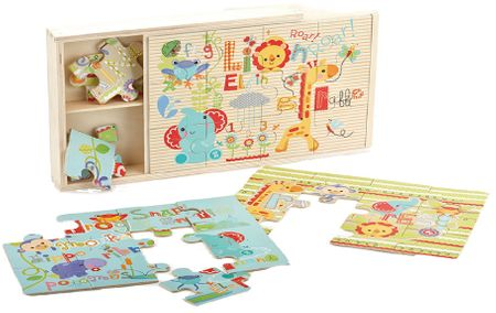 Fisher-Price Puzzle 3 v 1 drevené