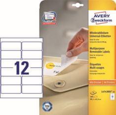 Avery Zweckform etikete L4743REV-25, 99,1x42,3 mm, bijele