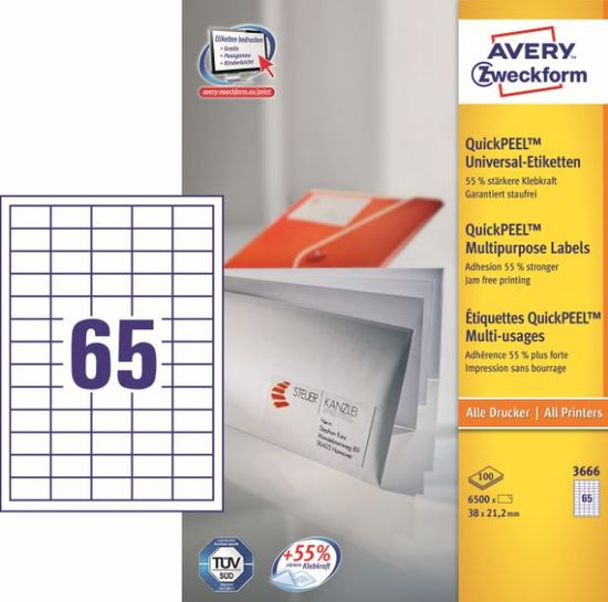 Avery Zweckform etikete 3666, 38x21.2 mm
