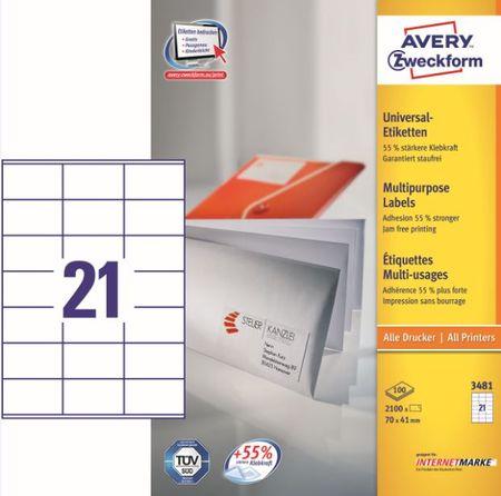 Avery Zweckform etikete 3481, 70x41 mm