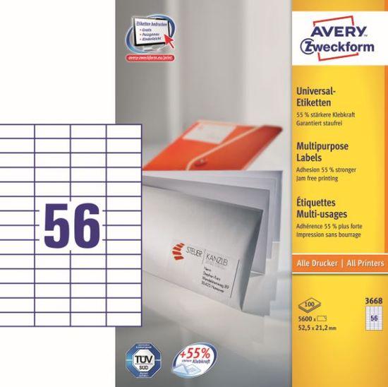 Avery Zweckform etikete 3668, 52,5x21,2 mm