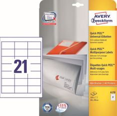 Avery Zweckform etikete 6170, 64x36 mm, bijele