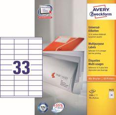 Avery Zweckform etikete 3421, 70x25,4 mm