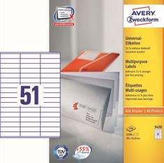 Avery Zweckform etikete 3420, 70x16,9 mm